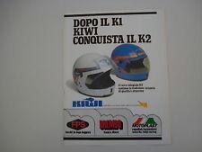 advertising Pubblicità 1979 CASCO INTEGRALE KIWI K2