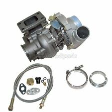 """T3 T4 TURBO CHARGER W/ WASTEGATE 8PSI + OIL FEED LINE + 2.5"""" V-Band ClAMP FLANGE"""