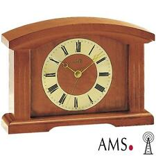 AMS Horloge de table 5138/9 radio-piloté Montre Funky bois massif radio-pilotée
