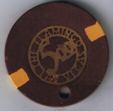 Flamingo Hotel $5.00 Die Cut Metal Bugsy Casino Chip Las Vegas Nevada 1946
