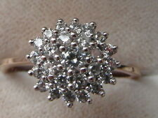 Q162 Ladies 9ct gold 0.50 carat VS diamond cluster engagement ring size N