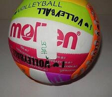 Molten NEON Recreational Volleyball, ONE HOLE NEED FIX SEE PIC