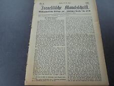 1891 Zeitung Juden Beilage  ....5 Hefte