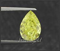 Diamant Tropfen Schliff Farbe gelbgrün von 0,10-0,25ct, 100% echt mit Zertifikat