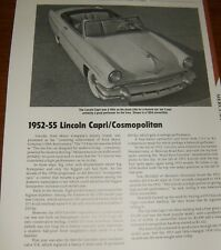 ★★1952-55 LINCOLN CAPRI/COSMOPOLITAN SPECS INFO PHOTO 52★★