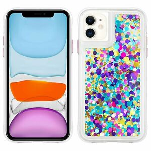 Confetti Protective Case for Iphone 11- Waterfall- Case Mate, Purple