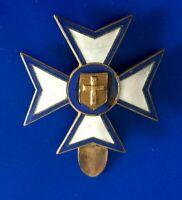 #3556# Vintage / Joli Insigne / épingle / badge / Croix religieuse emaillé