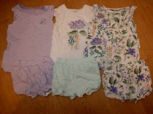 GIRLS ~ 2 3 Yrs  ~ SUMMER 3 Pack SHORT PYJAMAS Purple Rabbit Flowers Bundle NEXT