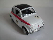 FIAT 500 COURSE version blanc, Welly Modèle auto environ 1:3 5-1 :3 8, neuf,