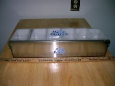 New old stock Marie Brizard Stainless Steel 6 Compartment Bar Condiment Tray