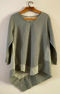 Habitat Clothes to Live In Lagenlook Asymmetrical Tunic Art To Wear Sz SMALL