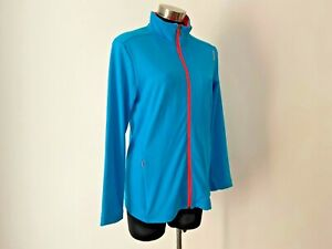 NEW! Reebok Turquoise Blue Fitness Track Jacket Size XL 14 16 RRP $129