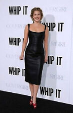 Women dress Black Real Leather Evening Cocktail Ladies Dress WD010