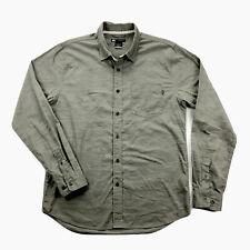 Nike SB Mens Medium Gray Wood Grain Print Long Sleeve Button Up Shirt