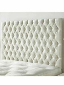 """40"""" inch Tall Chesterfield Wall Headboard in CRUSHED VELVET 3FT, 4FT6, 5FT, 6FT"""