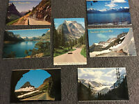 VTG Lot of 7 Assorted Montana Scenic Postcards Glacier Park Weeping Wall Travel