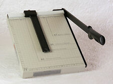 """12 """" Paper Cutter, Slide Fence and Locking Thumb Screw - Mint cond. - adjustable"""
