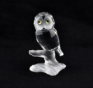 Swarovski Crystal Up In The Trees - Owl On A Branch 119442 *Retired*