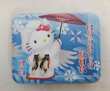 1976,2005 Sanrio HELLO KITTY Geisha BLUE Candy Tin Made in JAPAN RARE & HTF
