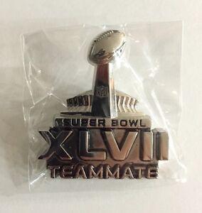 SUPER BOWL 47 XLVII NFL TEAMMATE PRESS MEDIA PIN BADGE BUTTON 2013 RAVENS SGA !!
