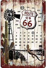 Route 66 ewiger Kalender US Blechschild 20cm x 30cm Schild geprägt 22142 Neu