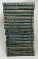 Lot 17 Vintage TOM SWIFT Jr. Books Victor Appleton II Hardcovers