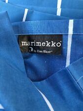 Vintage Dan River Blue White Marimekko Pillowcases Pair