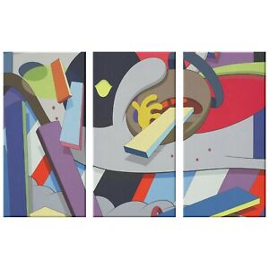 Kaws Canvas Art Print 2017 Where The End Starts