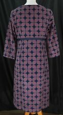 Boden Womens Long Sleeve Round Collar Shift Dress Size 8L