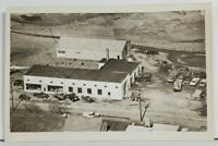 Fogelsville Pa Air View of C.F. MERKLE'S GARAGE  RPPC Real Photo Postcard P6