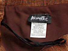 ACCOMPLICE ShortStretchGoldPartySkirt SizeM NWoT