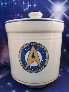 Pfaltzgraff Star Trek - USS Enterprise NCC-1701-A Cookie Jar Canister 1993