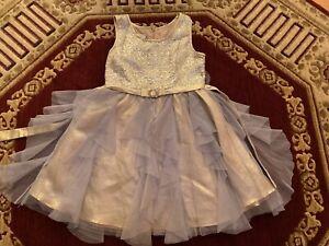 Girls dress Bonnie Jean size 10 gold/silver excellent condition