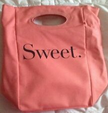 Lunch zippered lunch bag Written Sweet and Salty Coral Spring Summer Outside New