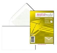 25 enveloppes C6 NK Blanc 80g sans fenêtre, gris doublure satin, 30002355 NEUF