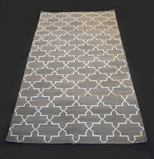 Hand Woven 3x5 Feet Cotton Kilim Grey Coloured Area Rug