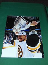 Boston Bruins Chris Kelly Autographed 8x10 Stanley Cup Close Up Photo