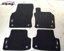 FLOOR CARPET MAT SET FRONT REAR TAILORED AUDI S3 8V SEDAN & SPORTBACK CHARCOAL