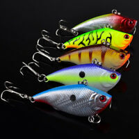 Lot 5Pcs Fishing Lures Kinds Of Minnow Fish Bass Tackle Hooks Baits Crankbait BR