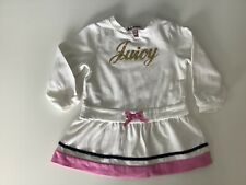 Juicy Couture Baby Girls Dress, Size Age 6-12 Months, White, VGC