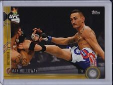Max Holloway 2015 Topps UFC Chronicles Gold Parallel #'d /88 Border Card #153