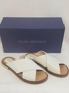 Stuart Weitzman Rockrose Off White Arizona Sandal Size 7 M