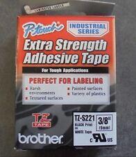 NIB Brother TZ S221 BLACK WHITE Label Tape   TZS 221 26 ft 9mm