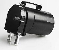 UKNEST Oil Catch Can Black Breather Aluminium Reservoir Tank Black 300ml