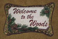 Deer Creek ~ Welcome to the Woods Tapestry Word Pillow