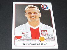 PESZKO GDANSK POLOGNE POLSKA EXTRA STICKER PANINI FOOTBALL UEFA EURO 2016