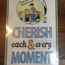"Family Circus Cherish Each & Every Moment 12"" X 8.5"" Metal Sign"