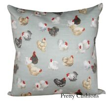 GP & J Baker Rare Breeds Hens Aqua Cushion Cover 16''