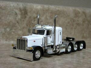 DCP 1/64 Black White Tri-Axle Peterbilt Semi Truck Farm Toy