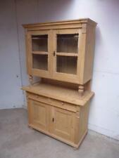 A Pretty Victorian Antique Pine Columned 2 Piece Kitchen Dresser to WaxPaint